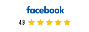 Facebook logo with star rating