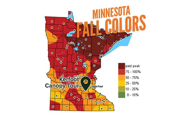 Minnesota fall colors map